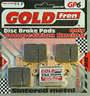 "sintered brake pad ""GP Series"" - racing performance on wet and dry conditions, HH+ friction,  suitable for road racing"
