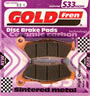 "sintered brake pad ""S33 street"" - best performance and durability on wet and dry, HH+ friction, suitable for street, custom, cruiser, big-twin and aggressive street riding and road racing"